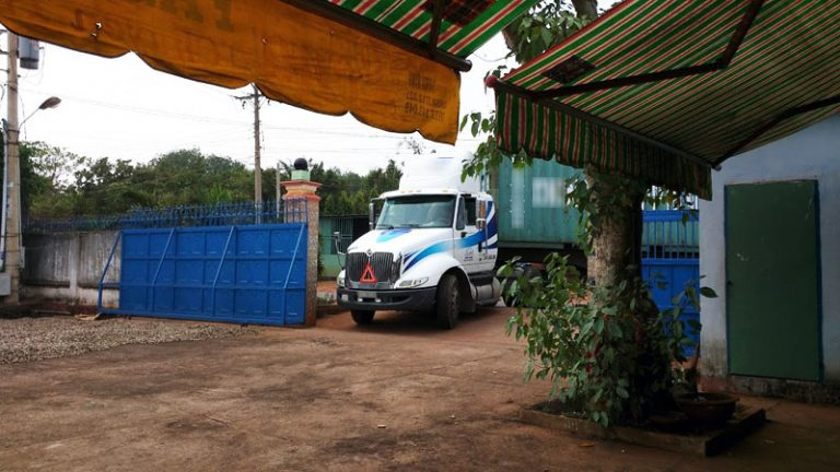 Our truck is loading for Laos Shipment